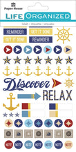 Load image into Gallery viewer, Nautical Planner Stickers