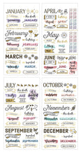 Load image into Gallery viewer, Monthly Creative Journaling Stickers