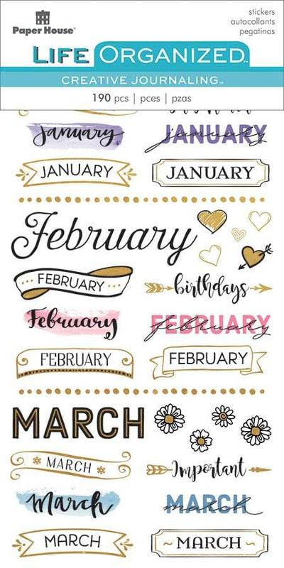 Monthly Creative Journaling Stickers