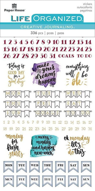 Weekly Creative Journaling Stickers