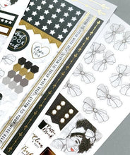 Load image into Gallery viewer, Glamorous Girls Weekly Kit Planner Stickers
