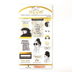 Glamorous Girls Weekly Kit Planner Stickers