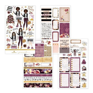 girl boss weekly kit planner sticker