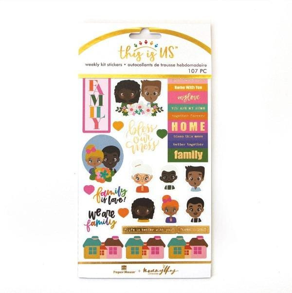 family is love weekly kit planner stickers