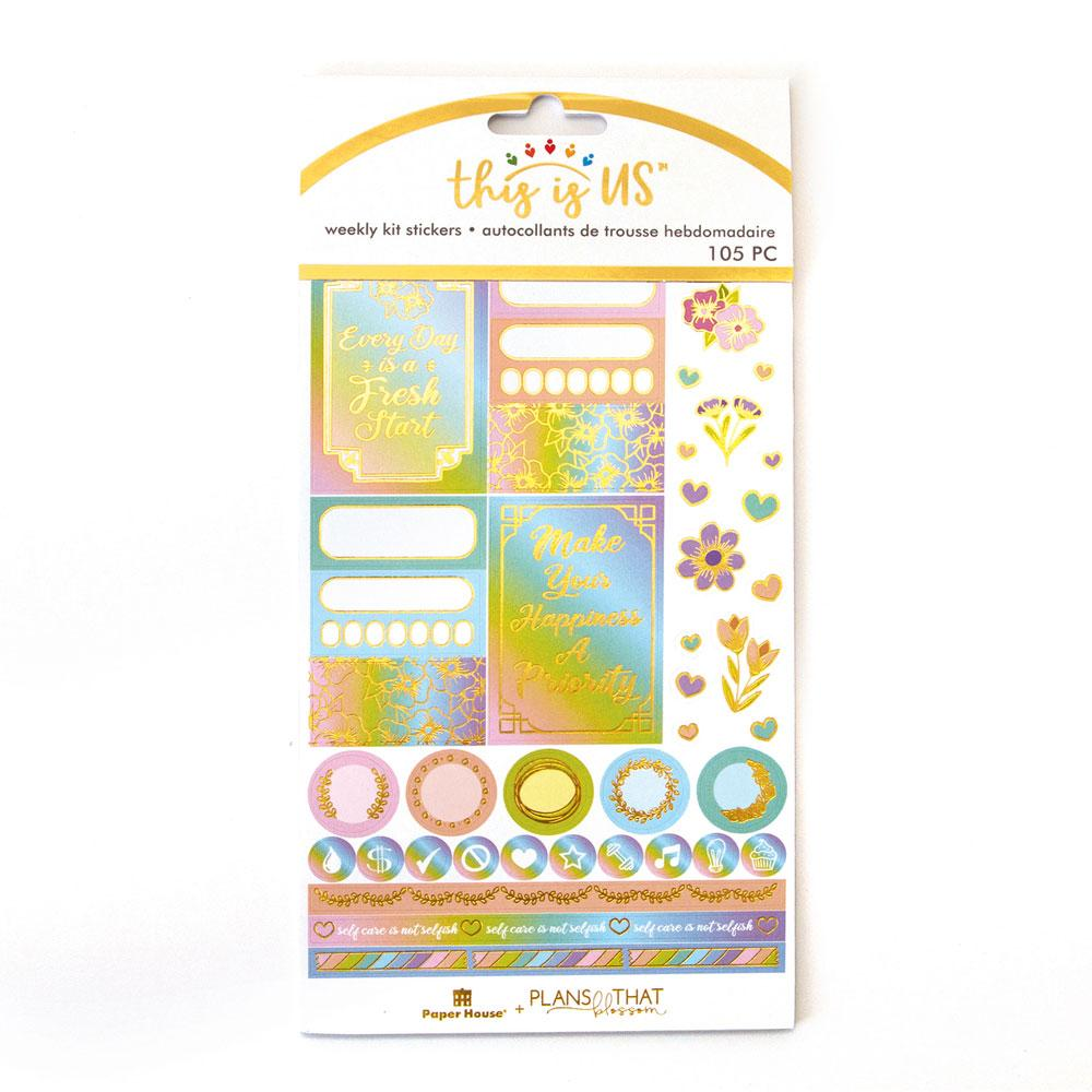 Self Care Pastels Weekly Kit Planner Stickers