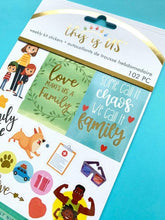 Load image into Gallery viewer, family life weekly kit planner stickers