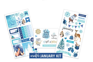Winter- January Sticker Kit