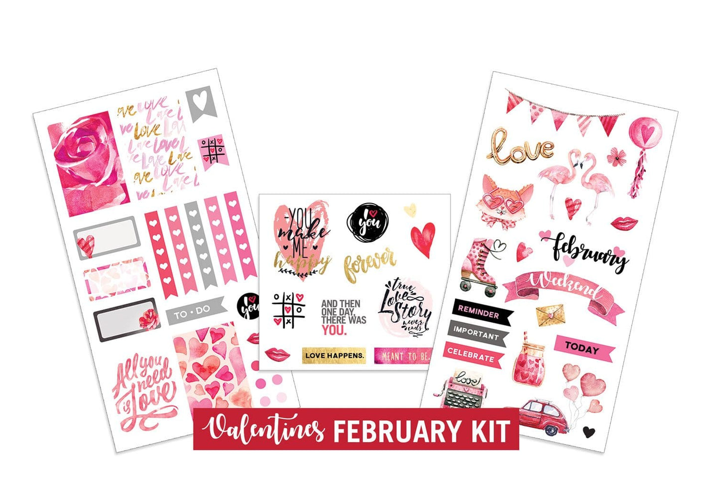 Valentine's- February Sticker Kit