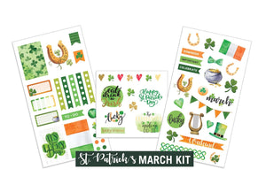 St. Patrick's- March Sticker Kit