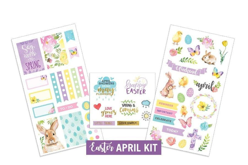 Easter- April Sticker Kit
