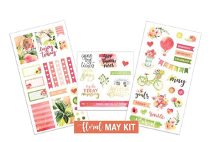 Floral- May Sticker Kit