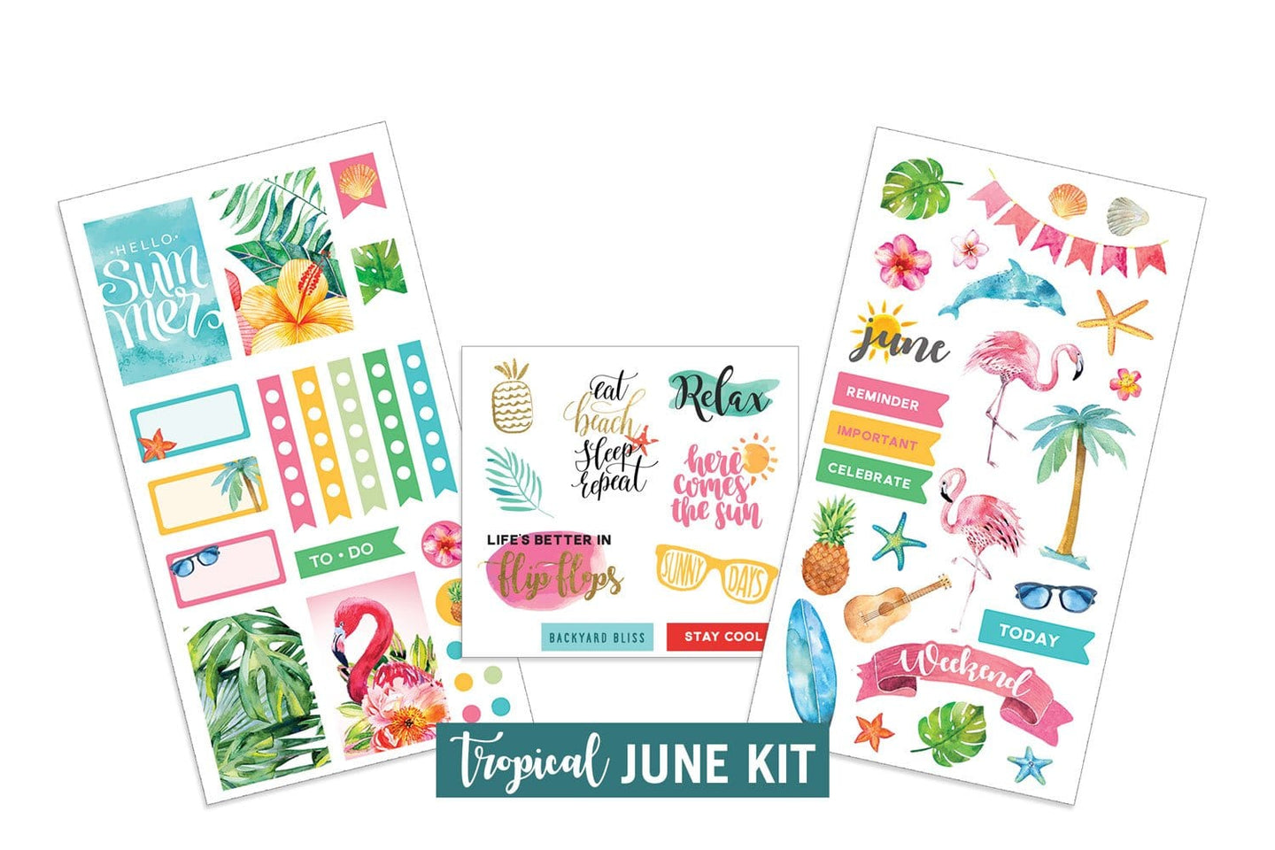 Tropical- June Sticker Kit