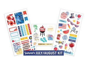 Summer- July/August Sticker Kit
