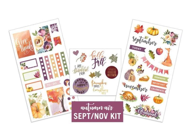 Autumn Air- Sept/Nov Sticker Kit