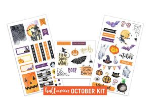 Halloween- October Sticker Kit