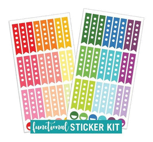 Functional Checkboxes Planner Sticker Kit