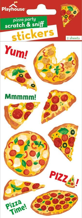 Pizza Scratch and Sniff Stickers