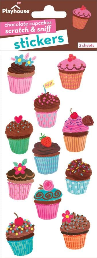 Chocolate Cupcakes Scratch and Sniff Stickers
