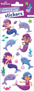 grape narwhals and mermaids scratch and sniff stickers
