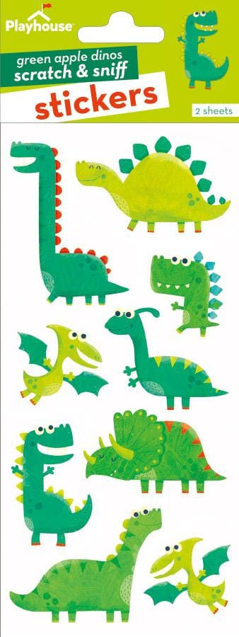 Green Apple Dinosaurs Scratch and Sniff Stickers