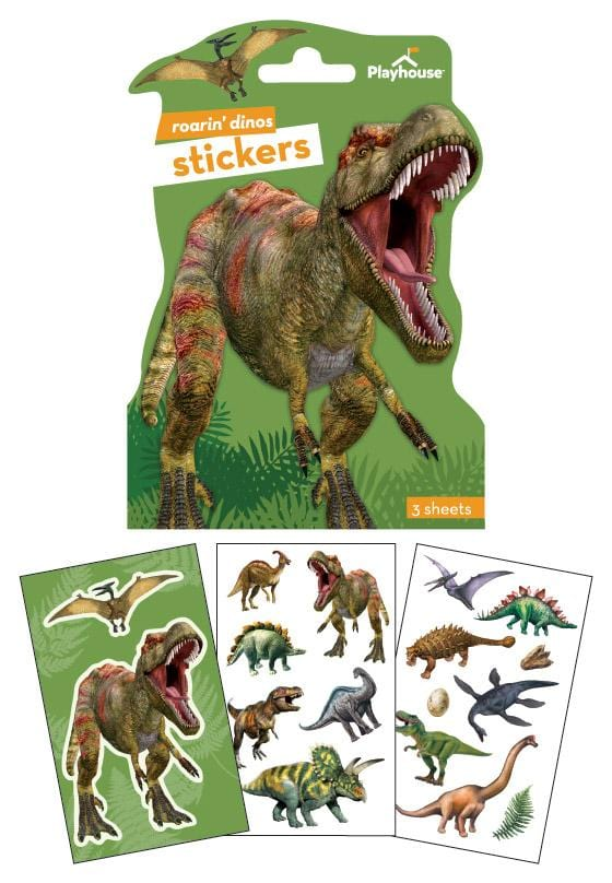 dinosaur shaped sticker pack