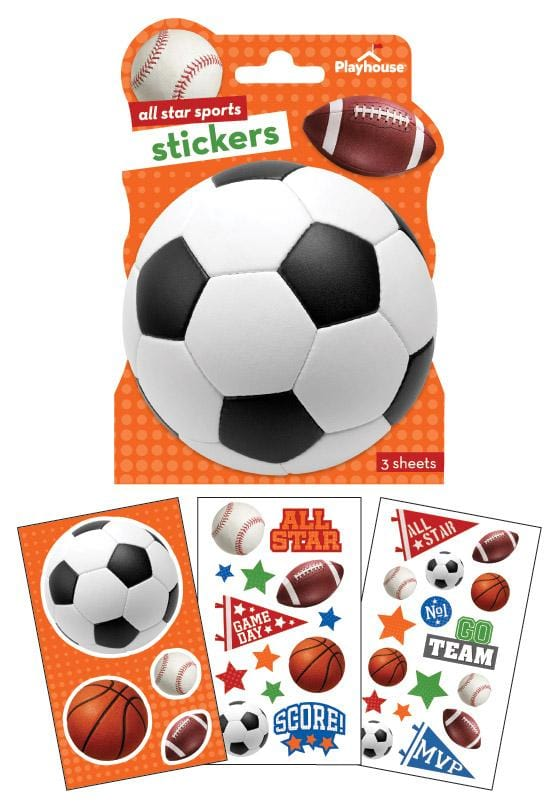 Sports Shaped Sticker Pack