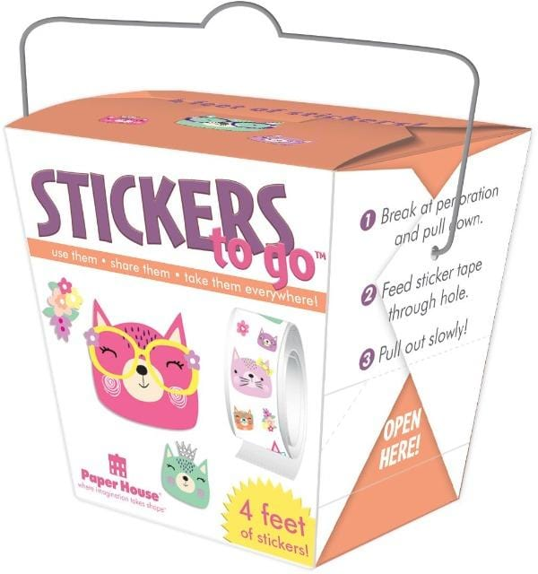 Cat Faces Stickers to Go