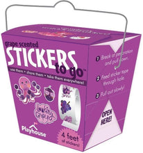 Load image into Gallery viewer, grape scratch and sniff stickers to go