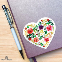 Load image into Gallery viewer, Floral Heart Vinyl Sticker