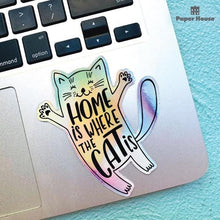 Load image into Gallery viewer, Holographic Cat Vinyl Sticker