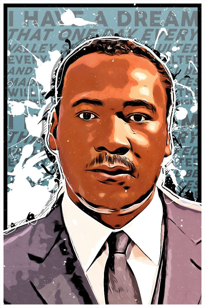 Martin Luther King Jr. Vinyl Sticker