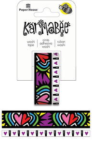 Hearts Pattern Washi Tape Set