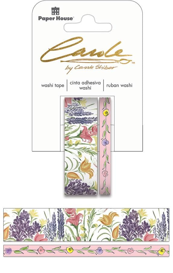 Carole Shiber Hand-Painted Wildflowers Washi Tape Set