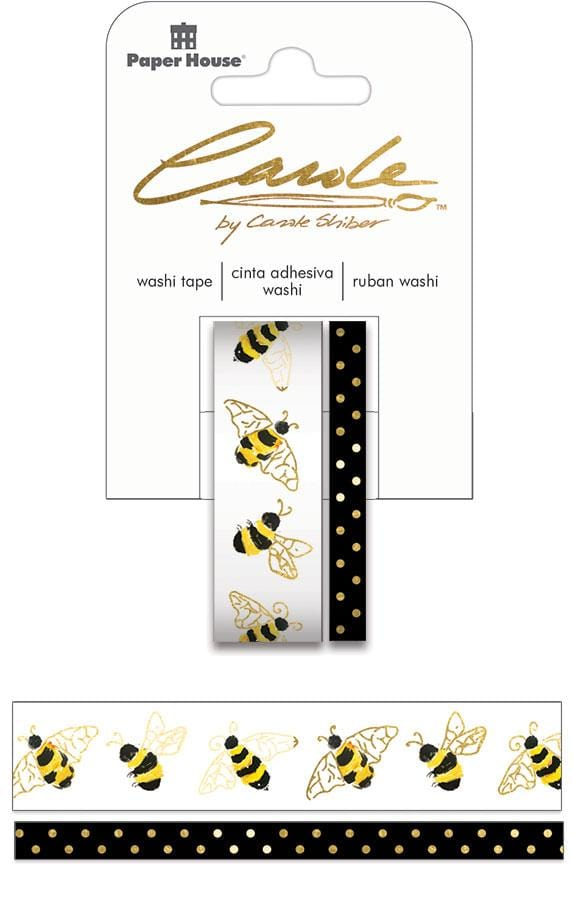 Carole Shiber Hand-Painted Honeybees Washi Tape Set