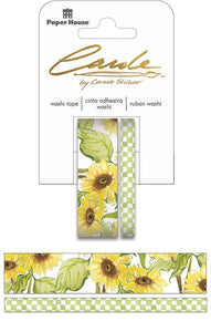 carole shiber hand-painted sunflowers washi tape set