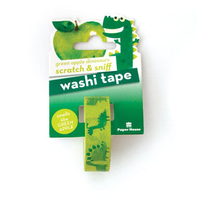Green Apple Dinosaurs Scratch & Sniff Washi Tape
