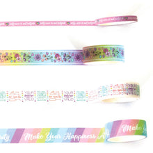 Load image into Gallery viewer, Self Care Pastels Washi Tape Set