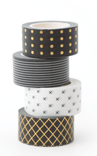 Load image into Gallery viewer, The Pink Orange- Black and White Washi Tape