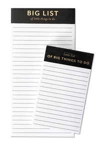 The Pink Orange- Big and Little List Pad Set