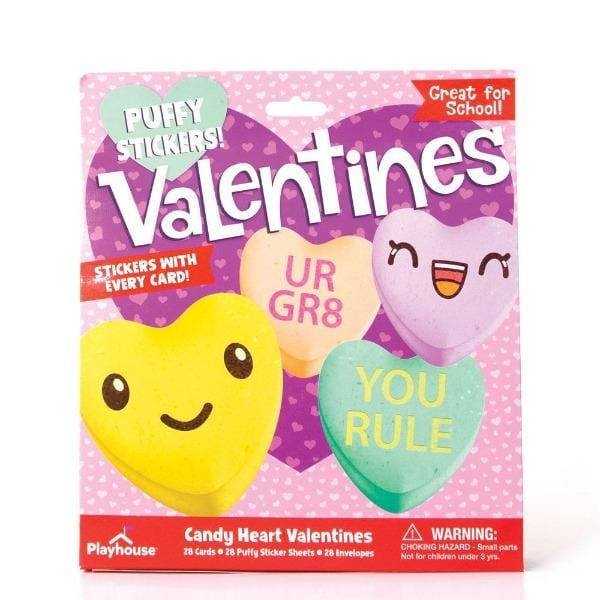 candy heart puffy sticker valentines