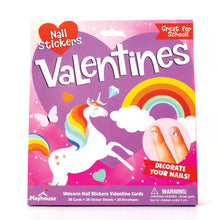 Load image into Gallery viewer, Unicorn Nail Sticker Valentines