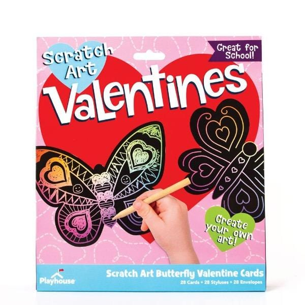 Butterfly Scratch Art Valentines