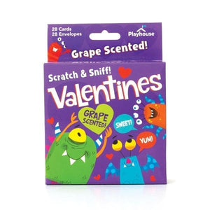 Grape Monster Scratch and Sniff Valentines