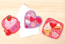 Load image into Gallery viewer, Strawberry Sweets Scratch and Sniff Valentines