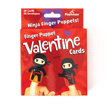 Load image into Gallery viewer, Ninja Finger Puppet Valentines