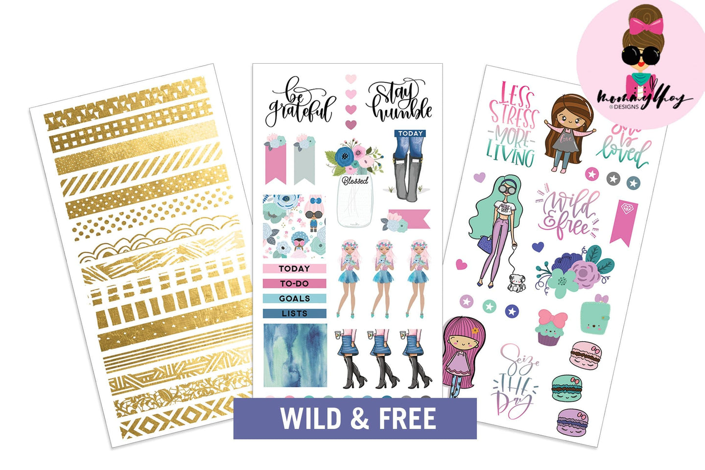 Mommy Lhey- Wild and Free Sticker Kit