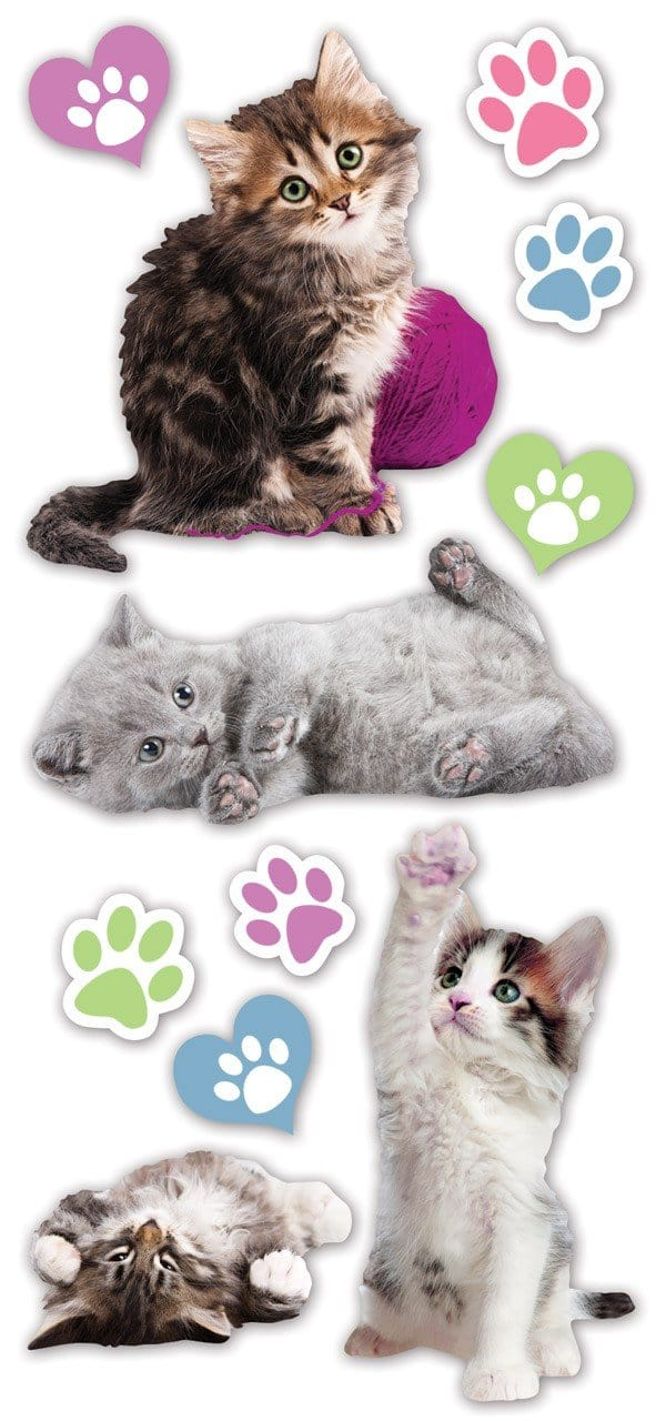 Kittens Puffy Sticker