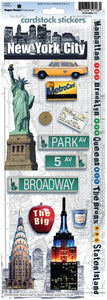 New York City Cardstock Stickers