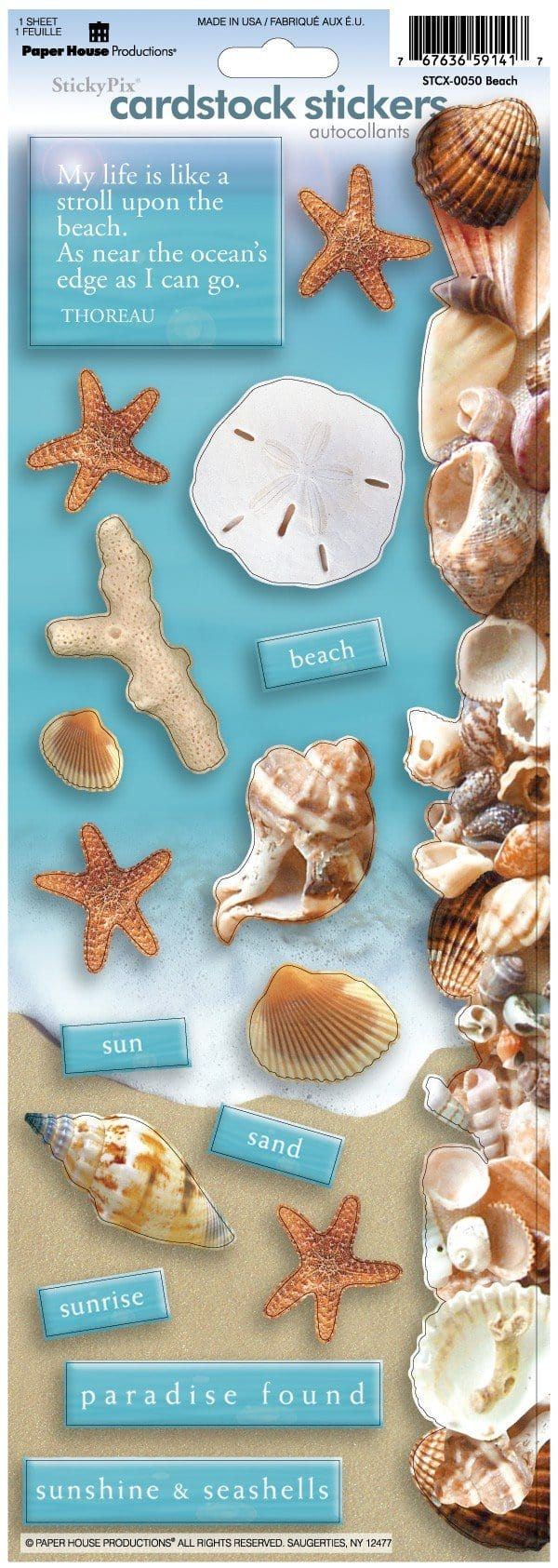Beach Cardstock Stickers