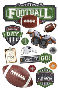 football 3d sticker